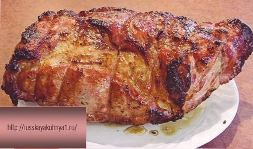 рецепт свинины в духовке В яблочко