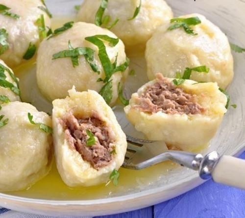 картофельные ньокки с мясной начинкой