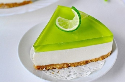 желейный торт из киви