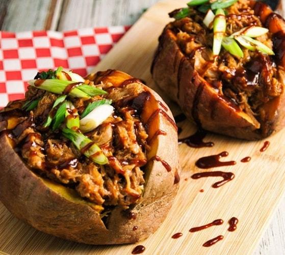 картофель запеченный с ветчиной - 01