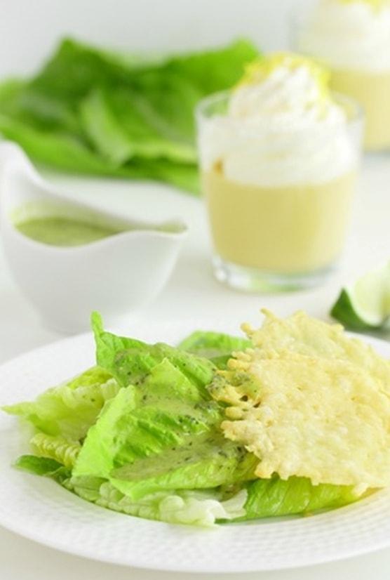 салат с лутуком и чипсами из пармезана - 02