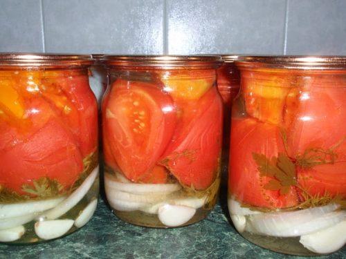 маринованные помидоры Счастье луковое