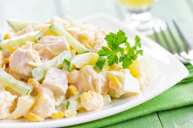 салат из курицы и ананаса рецепты с фото простые
