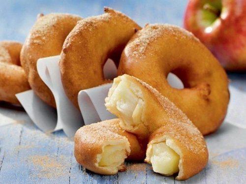 яблочные кольца в кляре вкусный завтрак