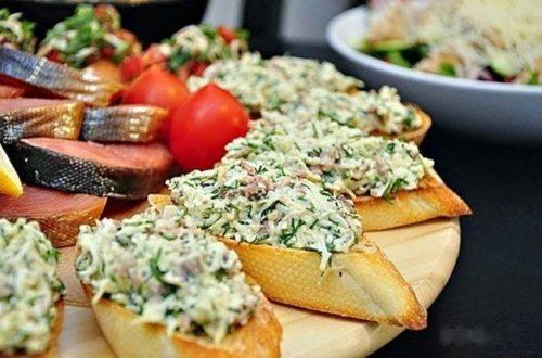 закусочные бутерброды с треской