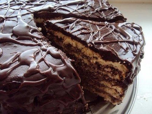 торт черный принц рецепт на кефире - 02