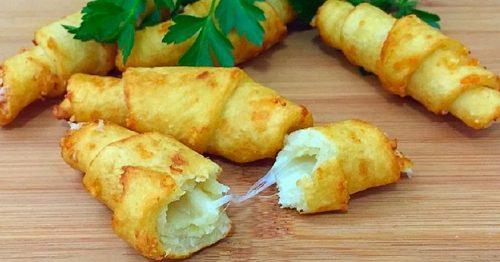 рогалики картофельные с сыром