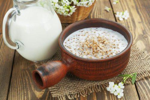 каша гречневая разварная с молоком
