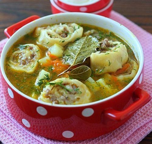 овощной суп с ленивыми пельменями - 01