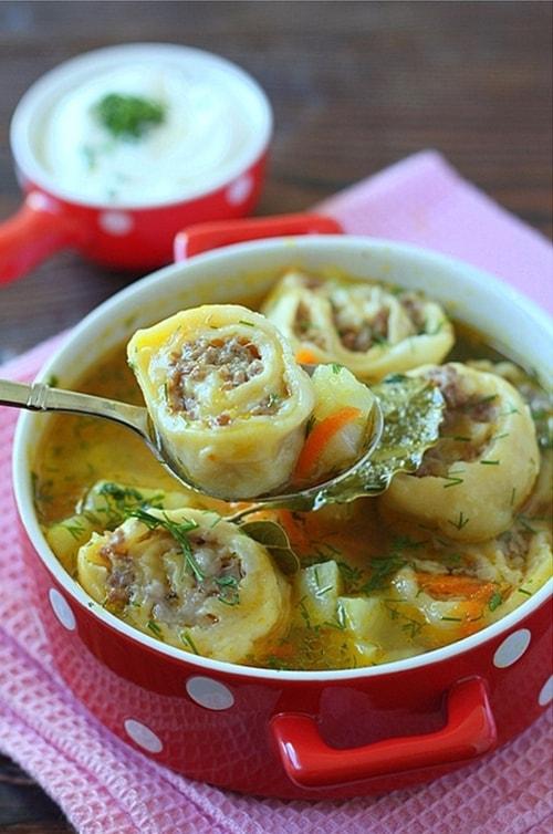 овощной суп с ленивыми пельменями - 02