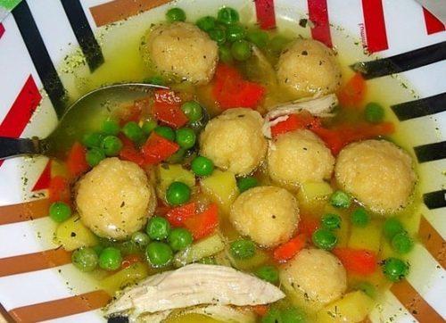 куриный суп с клёцками рецепт