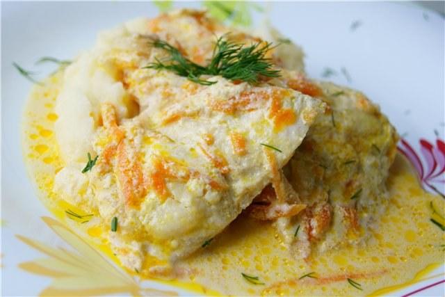 Рыба в чесночном соусе в духовке рецепт