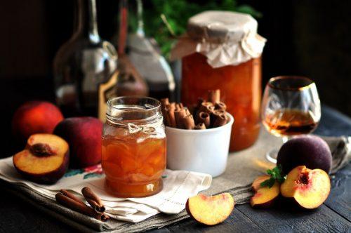 рецепт пряного персикового варенья - 01