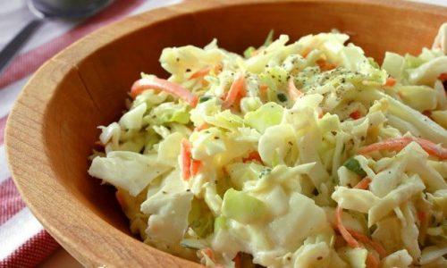 салат из свежей капусты с заправкой